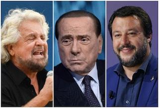 """Beppe Grillo: """"Silvio Berlusconi è debole, Matteo Salvini è uno sceriffo senza pistola"""""""