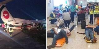 Aereo di linea finisce fuori pista durante atterraggio in Birmania, numerosi feriti