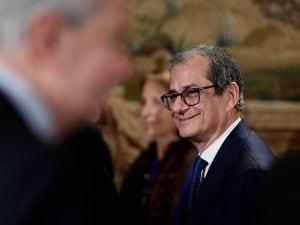 In foto: il ministro dell'Economia, Giovanni Tria.