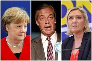 I risultati delle elezioni europee negli altri Paesi: Merkel, Le Pen e Farage primi