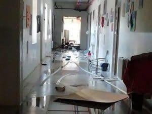Vandali in azione al Liceo Danilo Dolci di Palermo (Facebook).