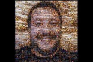 Liceo di Pisa ritrae Salvini con un mosaico di migranti naufraghi nel Mar Mediterraneo