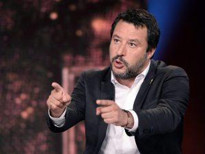 In foto: il ministro dell'Interno, Matteo Salvini.