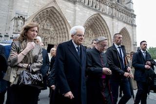 """Notre Dame, Sergio Mattarella a Parigi: """"La cattedrale rispecchia la storia dell'Europa"""""""