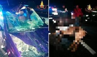 Cavallo imbizzarrito invade la superstrada: centrato in pieno da una Panda, è morto