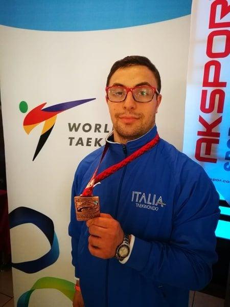 Michele è arrivato terzo al campionato mondiale di parataekwondo