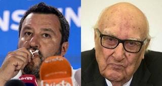 """Andrea Camilleri contro Matteo Salvini: """"Quando impugna il rosario mi dà un senso di vomito"""""""