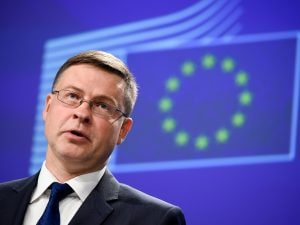 In foto: il vicepresidente della Commissione Ue, Valdis Dombrovskis.