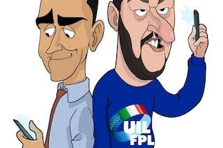 """Di Maio: """"Mai chiesto rimozione striscione"""". Salvini: """"Lotto contro mafia, non striscioni"""""""
