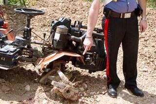 Macerata, si ferisce con la motozappa: pensionato morto dissanguato nel suo terreno