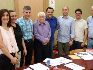 Foto da Facebook: Alberto Trionfetti con la commissione d'esame