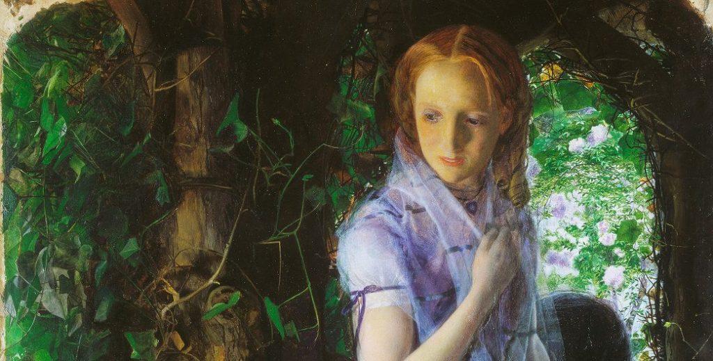 """""""April Love"""" di Arthur Hughes sarà in mostra a Palazzo Reale, a Milano, dal 19 giugno."""