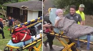 Una frana la sorprende a letto e abbatte la casa, nonna di 90 anni estratta illesa