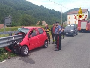Immagine dell'incidente a Montoggio.