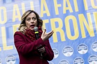 """Giorgia Meloni: """"C'è un piano per destrutturare la nostra società attraverso i migranti"""""""