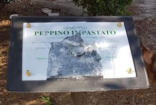 Palermo, vandalizzata dopo poche ore dall'installazione la targa dedicata a Peppino Impastato
