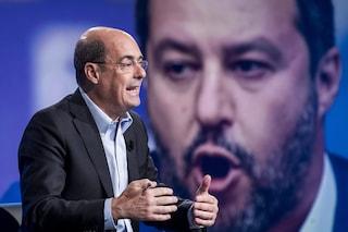 """Caso Gregoretti, Zingaretti: """"Salvini che fa la vittima è patetico"""""""