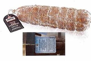 Ministero della salute richiama lotto di salame per presenza di salmonella