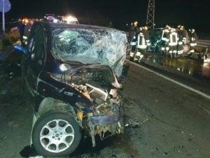 Immagine dell'incidente in Calabria (Twitter).