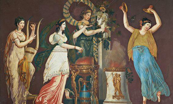 """""""Vestali"""" di Agostino Comerio (1817), Palazzo Maffei Pindemonte Rezzonico, Verona."""
