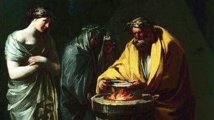 """""""Il sacrificio a Vesta"""", Francisco de Goya Lucientes (1771)."""