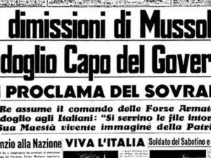 Calendario Accadde Oggi.25 Luglio La Caduta Del Fascismo I Fatti E Le Notizie Di Oggi