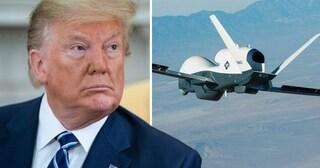 """Trump: """"Abbiamo distrutto un drone dell'Iran. Ci siamo difesi"""""""