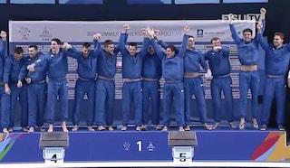 Universiadi 2019, l'Italia della pallanuoto maschile vince il 15° oro azzurro