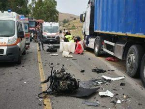 Incidente a Baucina (foto da BlogSicilia).