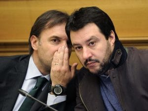 In foto: Massimo Bitonci e Matteo Salvini.