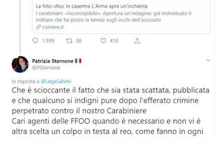"""Carabiniere ucciso, post choc di una prof di diritto: """"Un colpo in testa al reo"""""""