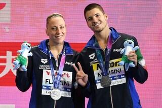 Mondiali di nuoto 2019, Flamini e Minisini ancora d'argento nel duo misto