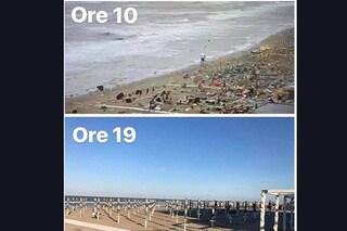 Milano Marittima: dopo il maltempo e la tromba d'aria riaprono le spiagge