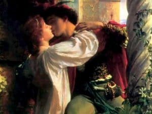 """""""Romeo e Giulietta"""", dipinto di Frank Bernard Dicksee (1853-1928)."""