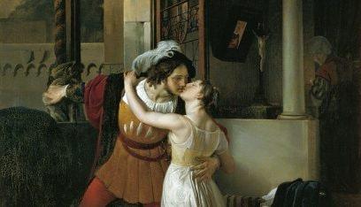 """""""L'ultimo bacio di Giulietta e Romeo"""" di Francesco Hayez."""