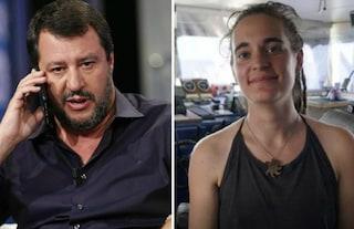 """Matteo Salvini: """"Mi spiace per la sinistra che è passata da Berlinguer a Rackete come eroina"""""""