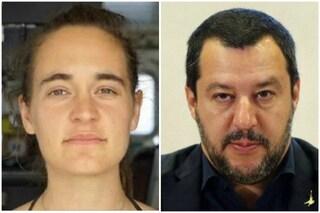 """Salvini attacca ancora Carola Rackete: """"La speronatrice di navi militari dovrebbe stare in galera"""""""