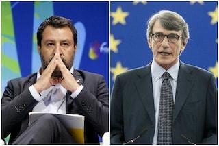 """Matteo Salvini contro l'elezione di David Sassoli. Pd: """"Prima gli italiani, ma solo se leghisti"""""""