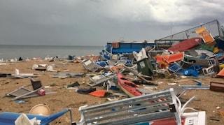 Maltempo: tromba d'aria a Ravenna, spiagge devastate in Marche e Abruzzo