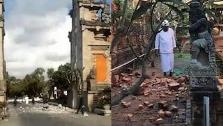 Indonesia. Terremoto di 5.7 magnitudo nel paradiso dei turisti: crolla un tempio a Bali