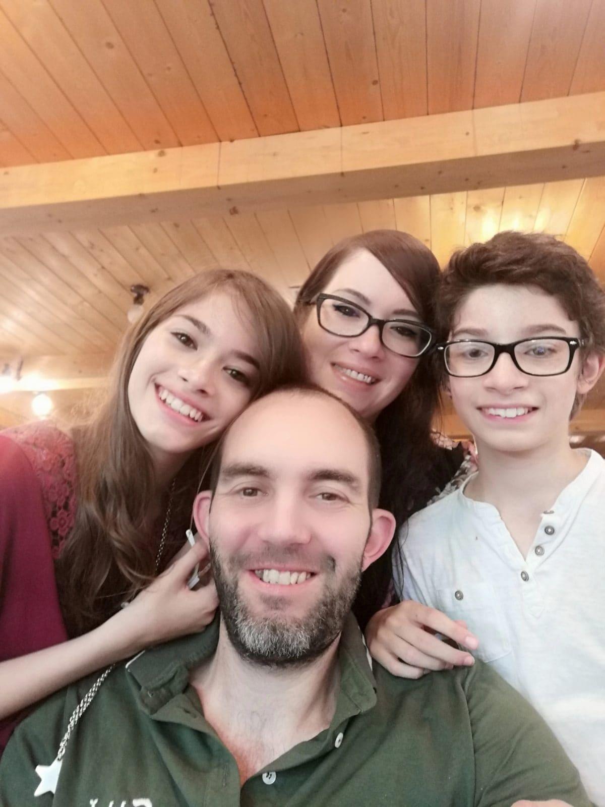 Simone e la sua famiglia