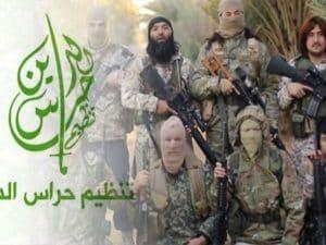 Miliziani di Hurras al–Deen, il gruppo jihadista obiettivo della coalizione internazionale a guida Usa