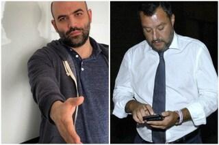 """Open Arms, Saviano contro Salvini: """"Tendiamo mano a migranti"""". Il ministro: """"Ancora parla?"""""""