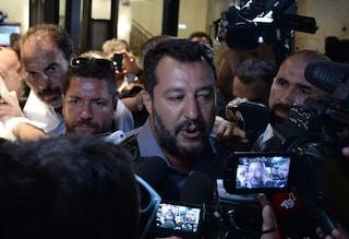 """Crisi di governo, Salvini: """"Se non si va ad elezioni ci si risiede al tavolo e si lavora"""""""