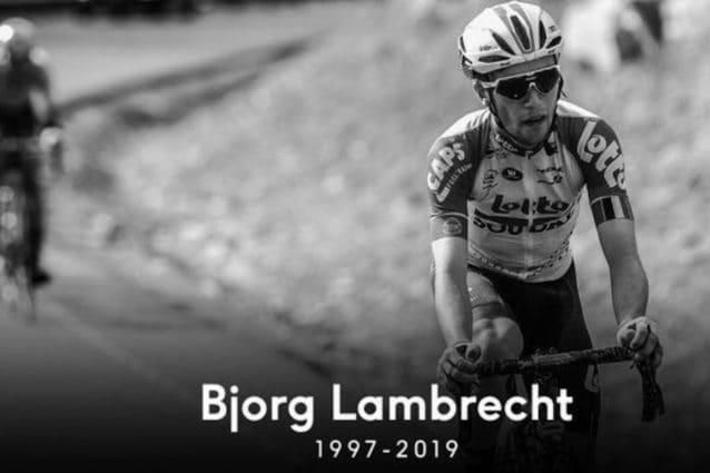 L'omaggio della Lotto Soudal a Lambrecht – Fonte Twitter