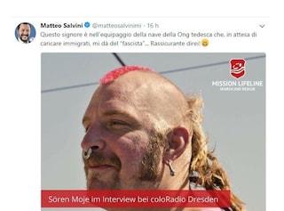 I giudici tedeschi contro Salvini: deve cancellare le foto dei membri della ONG Lifeline