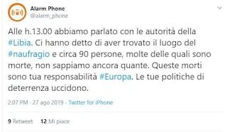 """Nuova strage nel Mediterraneo, Alarm Phone: """"Molti migranti morti in un naufragio in Libia"""""""