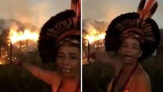 """Incendi in Amazzonia, la donna indigena accusa Bolsonaro: """"Stanno distruggendo nostra fonte di vita"""""""