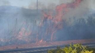 Incendio sulla linea ferroviaria Termoli-Foggia, treni in tilt e ritardi di oltre tre ore