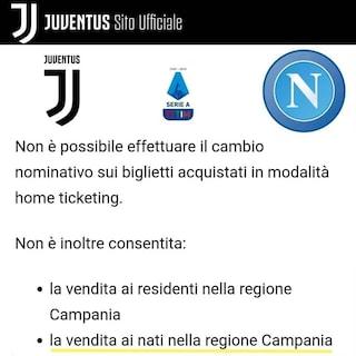 Juventus-Napoli vietata ai nati in Campania: la libreria fa lo sconto ai tifosi partenopei
